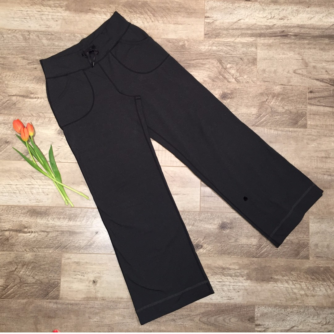 LULULEMON Yoga Lounge Still Pants Heathered Deep Coal Sz. 6