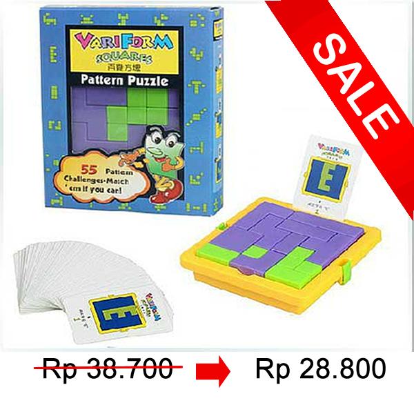 Mainan edukasi edukatif anak balita Puzzle susun balok kreatif AHM013