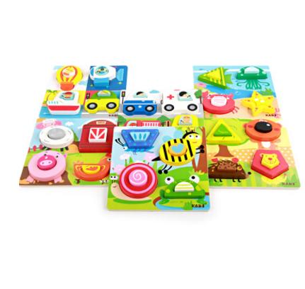 mainan puzzle anak 3D tebal motif karakter campur - ahm072