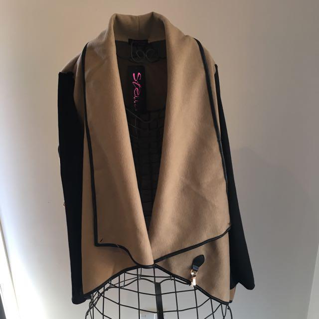Mia Wrap Coat With Funnel Neck S/M