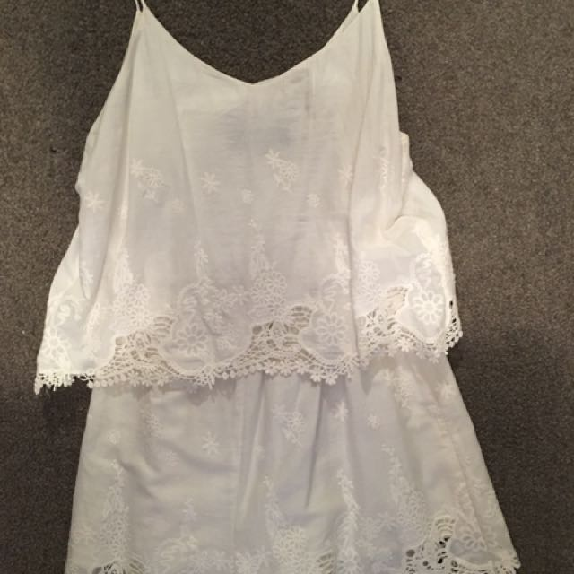 Museum White Playsuit