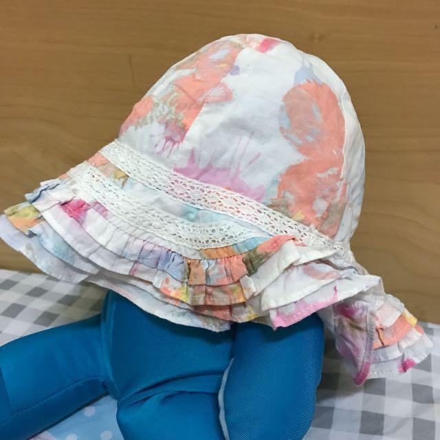 英國NEXT純棉荷葉遮陽帽