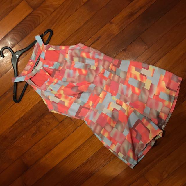 Ohvola Cut Out Detail Playsuit Romper Jumpsuit M Pink