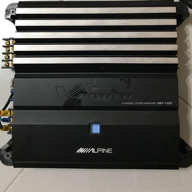 Old School Alpine MRP-F250 V-Power 4 Channel Amplifier,ULTRA