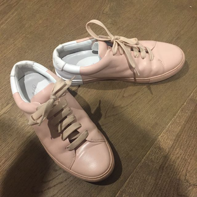 Pink And White Sneakers
