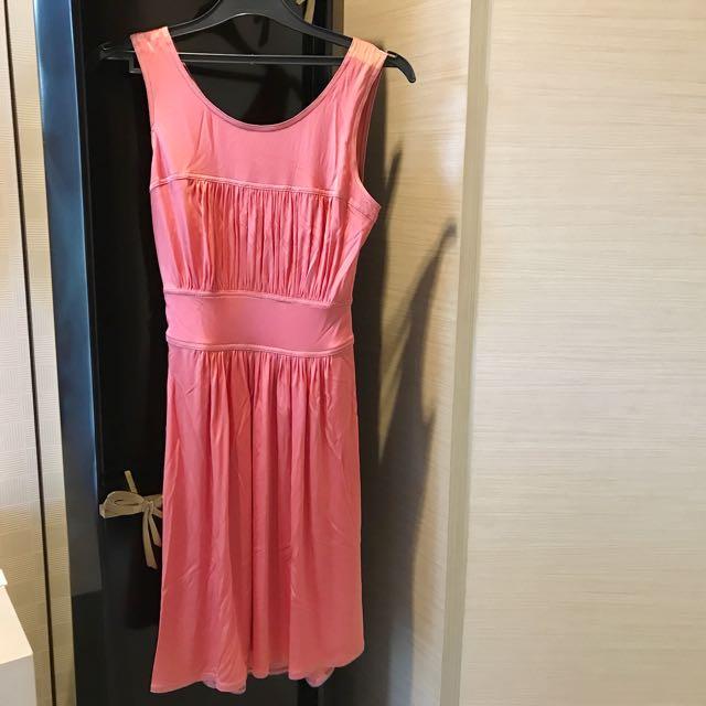 Pink Satin Bcbg Dress