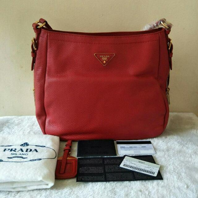 fc2830ea0707 ... good prada red leather bag womens fashion bags wallets on carousell  a29df 71613