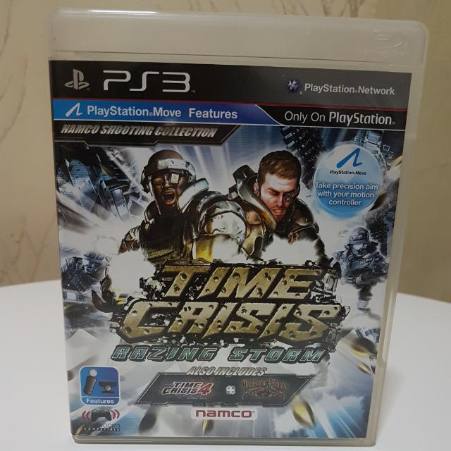 """Preloved PS3 """"TIME CRISIS RAZING STORM"""" (R3) CD"""