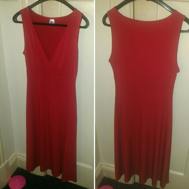 Red Dress By Undercover Wear Size 10
