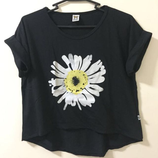 REPRICED! Floral Black Shirt