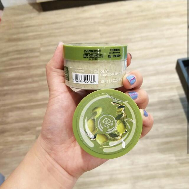 Sale The Body Shop Olive Scrub Travel Size