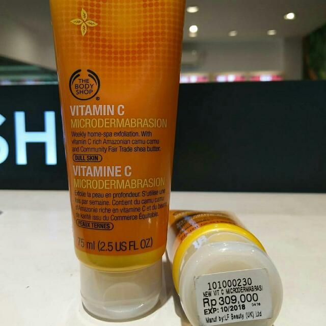 Sale The Body Shop Vitamin C Microdermabrasion