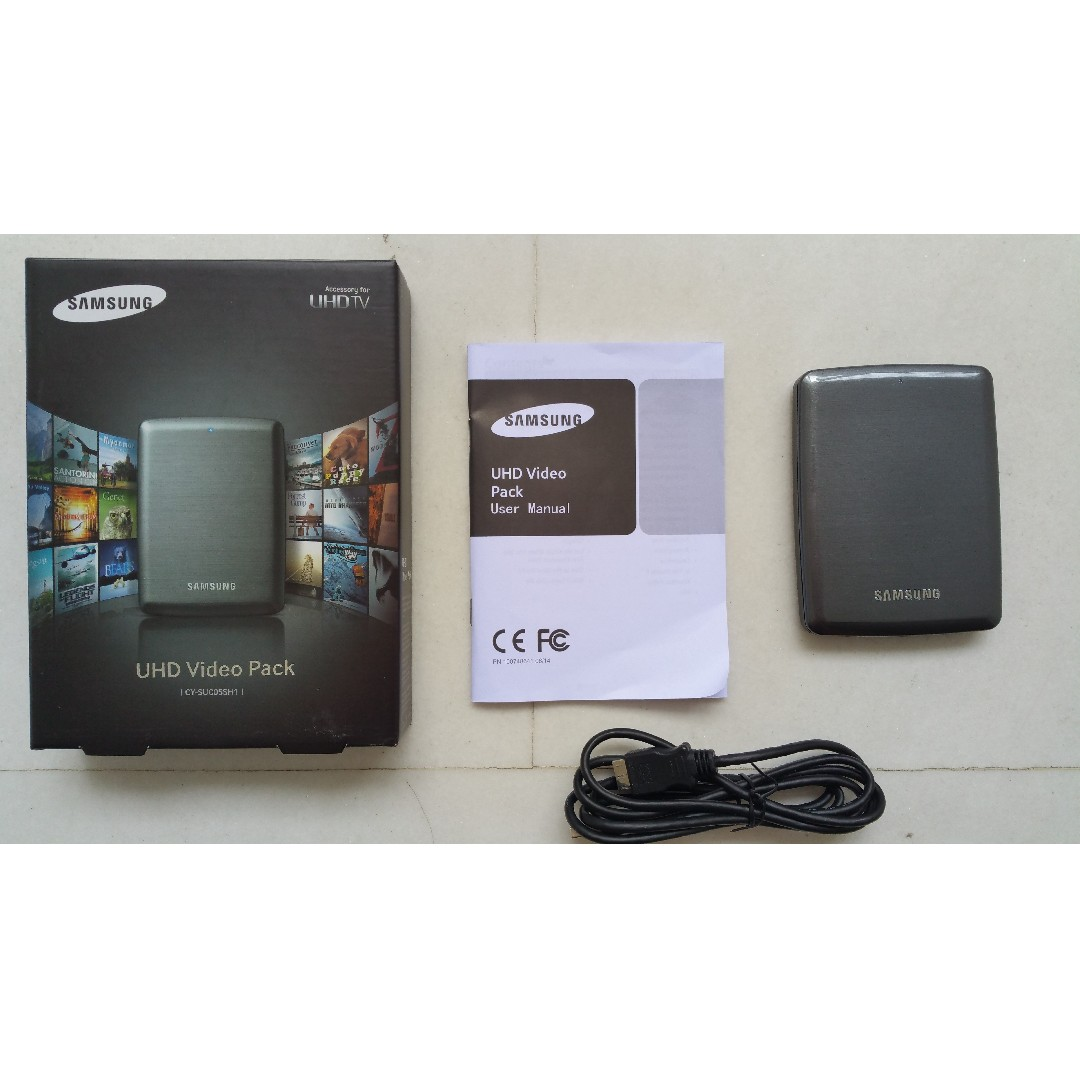 samsung uhd video pack for samsung smart tv external hard disk rh sg carousell com Samsung LED TV User Manual Manual for Samsung TV LN46D630 46