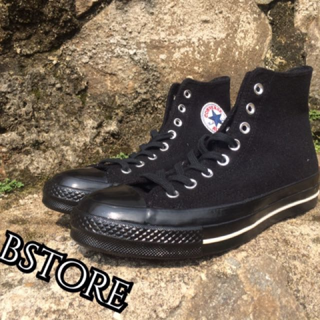 Sepatu Converse Original 70S Team Wool Mono Black