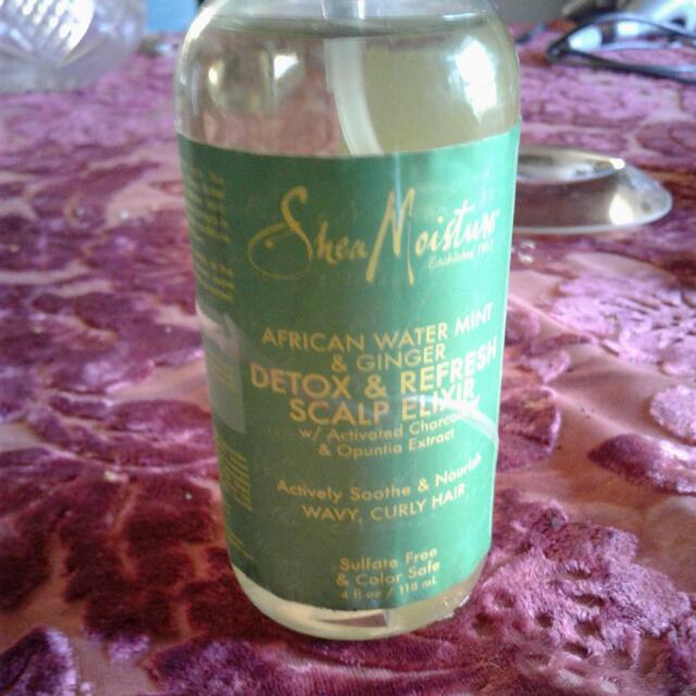 Shea Moisture Detox And Refresh Scalp Elixir With African Water Mint And Ginger