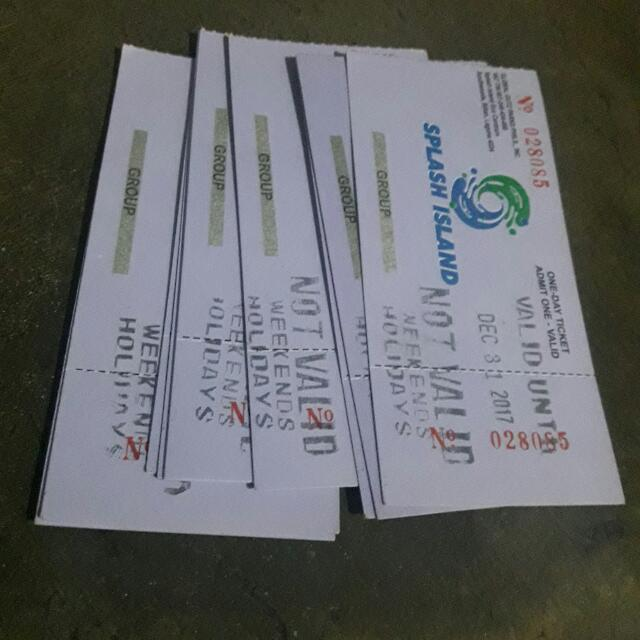 Splash Island Ticket (Each)