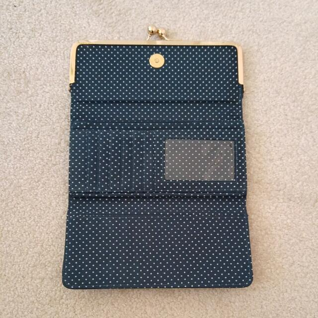 Teal Faux Leather Wallet