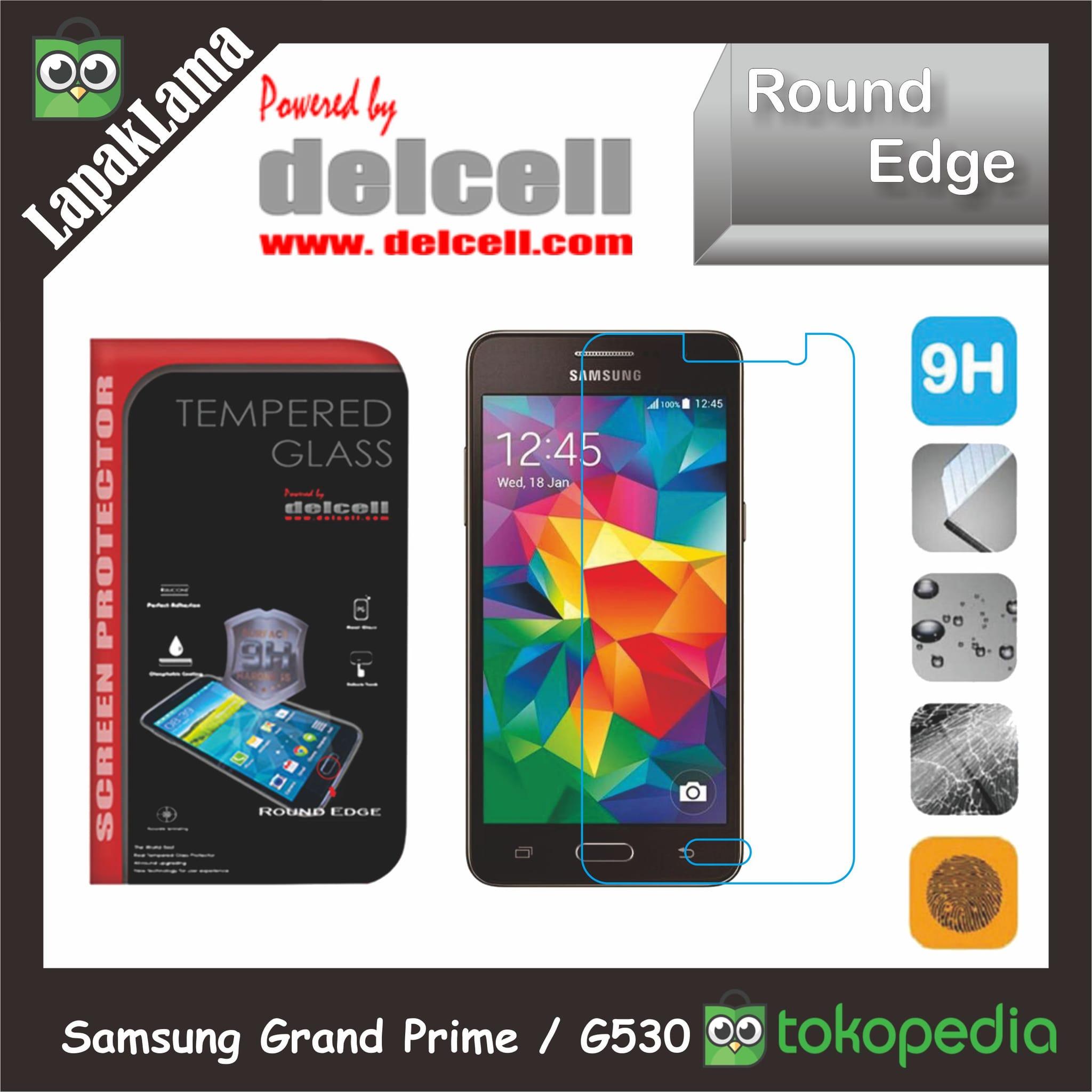 Tempered Glass Delcell Samsung Galaxy Grand Prime  G530 Screen Guard