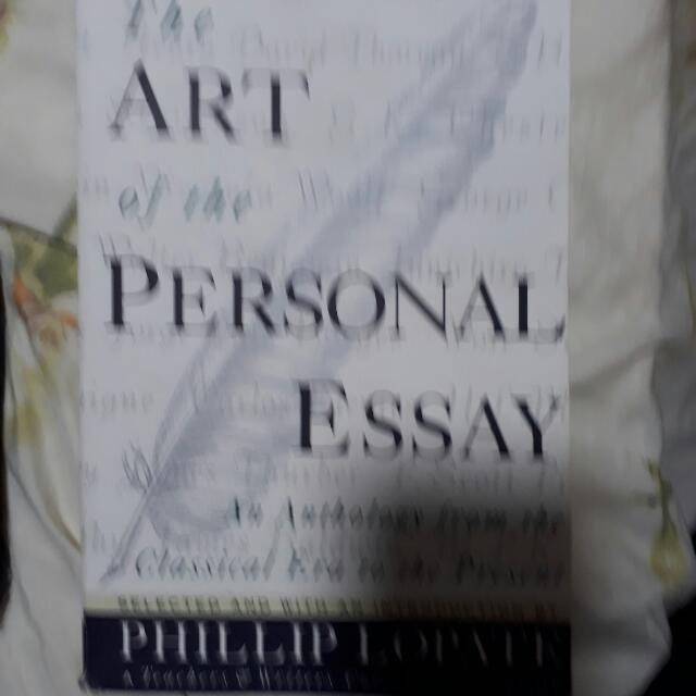 The art of the personal essay by phillip lopate books stationery
