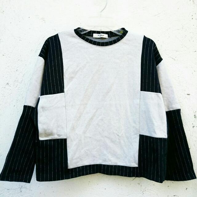 Unisex Black Gray Sweatshirt