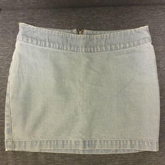 Vanishing Elephant Denim Skirt Size 8