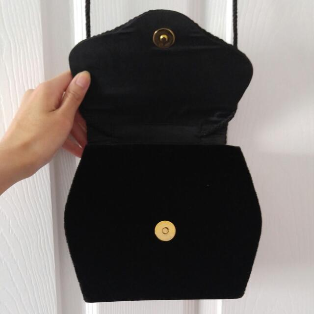 Velvet Side Bag/clutch