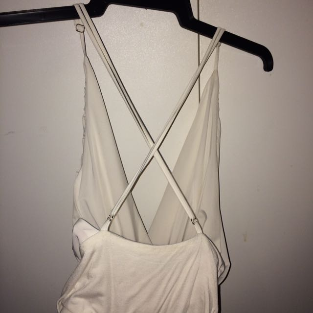 White Cross Over Bodysuit