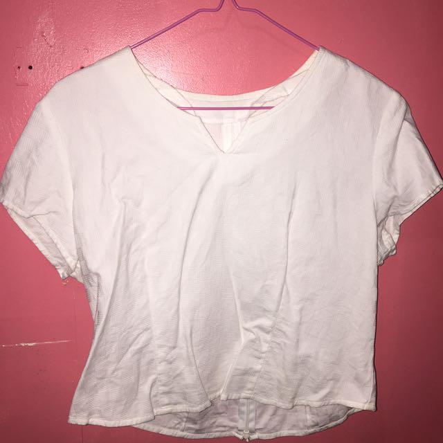White Formal Wear Top