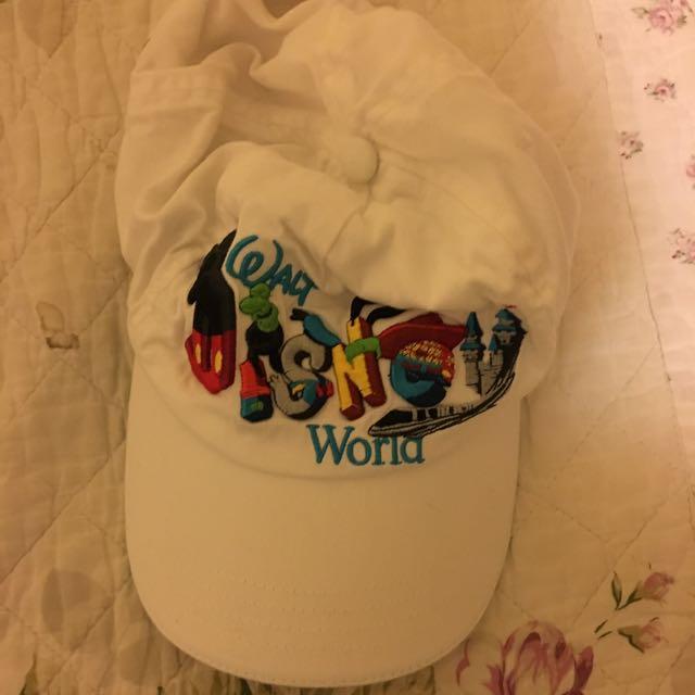 White Walt Disney World cap