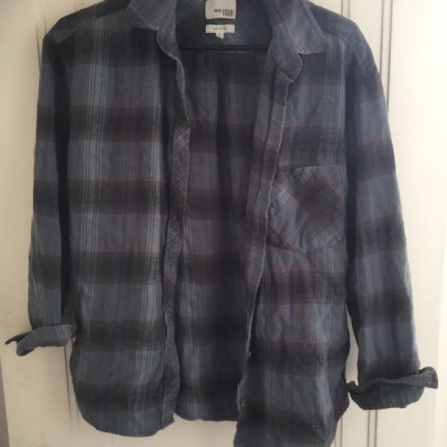 Wilfred Free Blue And Purple Flannel Blouse