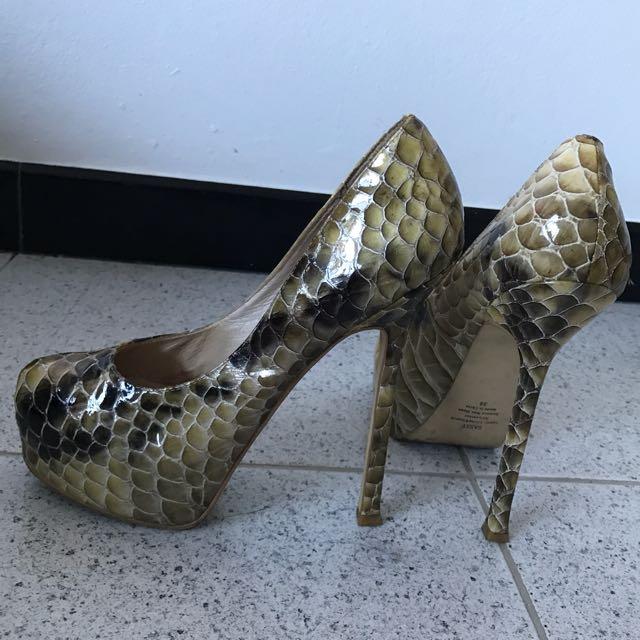 Wittner Snake Skin Heels 38