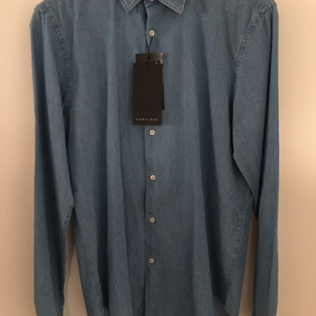 Zara Cotton Denim Look Shirt