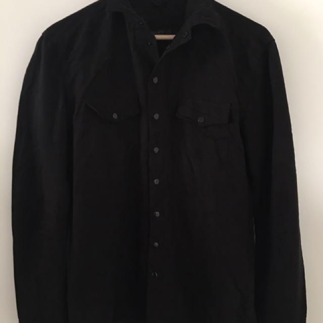 Zara Suede Black Shirt