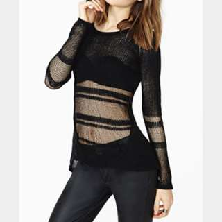 Sheer Knit Top