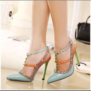 High Heel Rivets Shoes