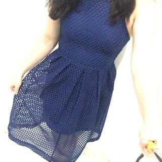 Blue Net Dress