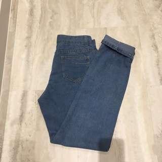 Light Blue High Waist Mom Jeans