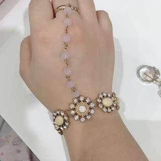 TOPSHOP bracelet ring chain