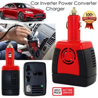150W Car Cigarette Lighter 12V DC to 220V AC Power Inverter with USB Power Combine with Your Jump Starter power bank to Get a Portable AC power bank_HARI RAYA PROMO TILL 2/7/17