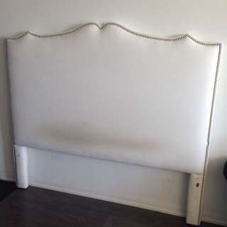 white queen headboard