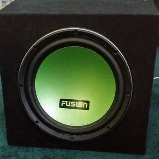 Fusion Car subwoofer And Amp