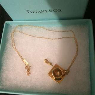 Tiffany & Co Graduation Necklace And Pendant.