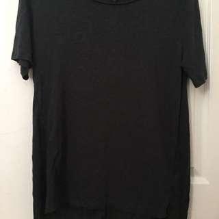 Dark Green Long T Shirt / T Shirt Dress