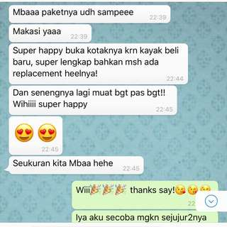 2 Customers' Confirmation 🙏🏻😘