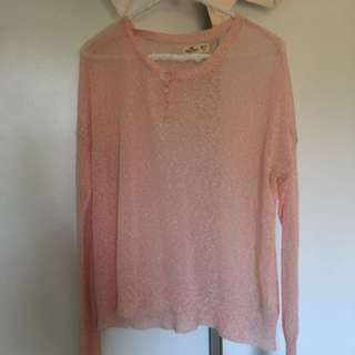 Hollister Pink Long Sleeve