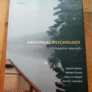 Abnormal Psychology: an Integrative Approach/ 4th Canadian