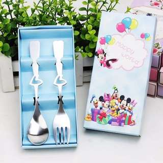 Birthday Children Day Party Door Gift Favors Spoon And Fork Set