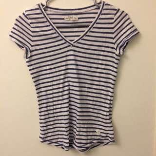 Abercrombie Kids Girls Striped T-Shirt