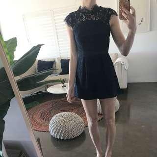 Navy Lace Jumpsuit Size 6/8