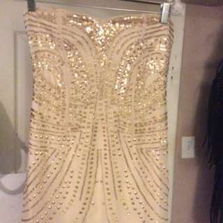 HM short Gold Party Dress